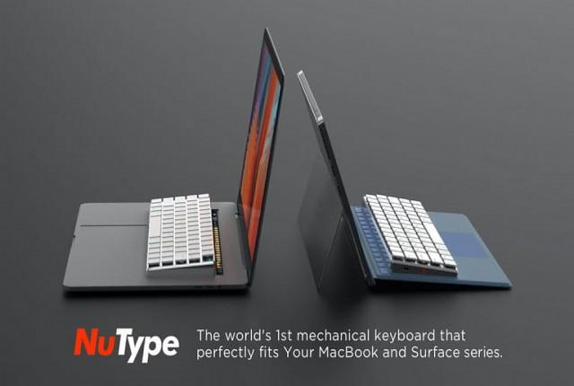 صفحه کلید مکانیکی که مستقیماً به مک بوک یا surface متصل می شود